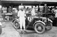 MG Midget in Brooklands Paddock with Hon. Victoria Worsley c.1932